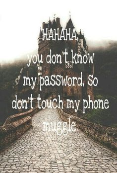 harry potter, muggle, and don't touch my phone image