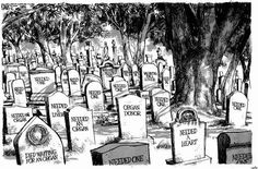 Editorial cartoon by Michael Ramirez - his dad died before he could get the liver he needed