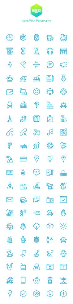 Ego – 100 Vector Icons | GraphicBurger