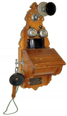 vintage tel: 1899 antique Wico wall telephone ($450 via FineEstateLiquidation.com auction)