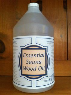 Essential Sauna Wood Oil (tm) is a non-toxic penetrating oil that is infused with our own special blend of 6 aromatic oils. Sauna Wood Oil is not a paraffin wax product. This product is for use on ...