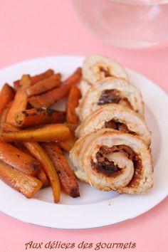 Aux délices des gourmets: ROULÉS DE POULET  AUX TOMATES SÉCHÉES