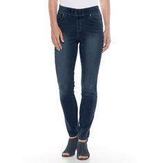 Women's Gloria Vanderbilt Avery Slim Straight-Leg Jeans, Size: 4 - regular, Med Blue