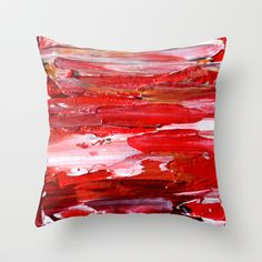 Red Throw Pillow by Claudia McBain #red #pillow