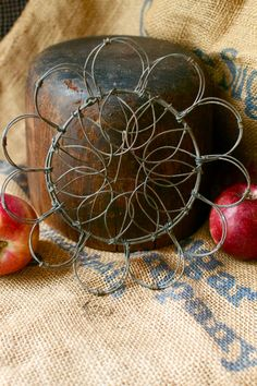 Antique Early Vintage French Wire Egg Basket Easter by MRCG, $45.00