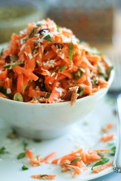 The Best Carrot Salad Ever | thehealthyfoodie.com