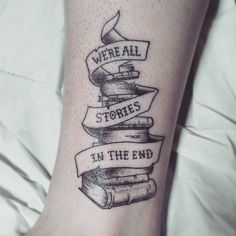 Dotshaded tattoo by Alex M Krofchak at The Tattooed Arms, Lincoln. We're all stories in the end.