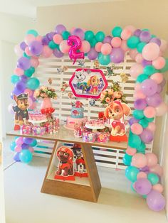Paw Patrol Birthday Theme, Baby Girl Birthday Theme, 4th Birthday Parties, Paw Patrol Cake, Paw Patrol Party, Fiesta Theme Party, Party Themes, Unicorn Party, Birthday Decorations