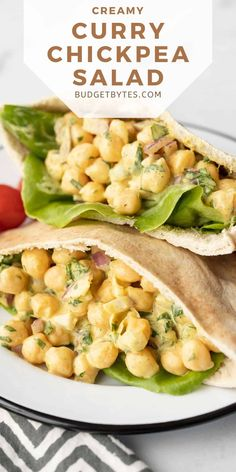 This Curry Chickpea Salad is a fast and easy no-cook lunch that's perfect for summer. Light, fresh, filling, tangy, and flavorful! BudgetBytes.com