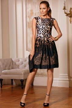 Boston Proper Animal lace ombre dress #bostonproper   Ombré and leopard!!! My dream dress! ;)