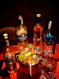 Russian vodka room -sampler of 6 different vodkas-good company