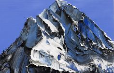 Deeply Textured Mountain Paintings by Conrad Jon Godly – Cube Breaker