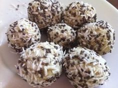 Ripped Recipes - Coconut Vanilla Protein Bites - The perfect portable post-workout snack! Gluten free, dairy free & vegan.