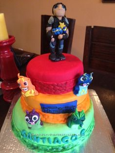 Coolest Bajo Slugterra Cake for a 6 Year Old Boy... Coolest Birthday Cake Ideas