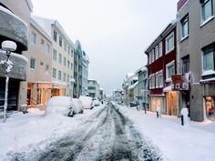 Reykjavík, Iceland in record snowfall. Beautiful winter wonderland. We even saw the northern lights in the evening- would've been the perfect time to go to the Blue Lagoon, or hot spring!