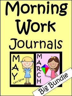 Morning Work Journals Bundle (10 Months)A great way to start the day from September through June.Each printable has a writing prompt and an area where students are asked to draw something that represents what they have written.Each individual journal is listed in my store for $4.00 each.
