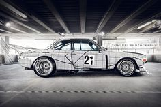 BMW 3.0 CSL Art Car, Frank Stella, 1976