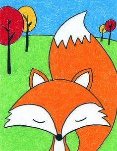 Cartoon Fox – Art Projects for Kids