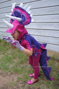 Coolest Handmade Triceratops Costume - 3