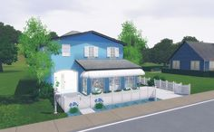 Via Sims: Simply Blue – The Sims 3 House