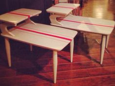 Mid Century Modern  Atomic Age tables by VintageRevivalHome, $225.00