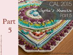 This is Part 9 of the Sophie's Universe Crochet-along. This is a mystery project that will yield a square continuous crochet blanket. Motif Mandala Crochet, Crochet Motifs, Crochet Blocks, Crochet Squares, Crochet Granny, Crochet Yarn, Crochet Stitches, Crochet Patterns, Granny Squares