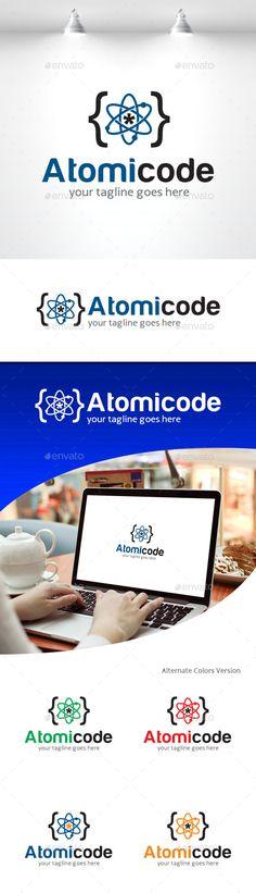 Atomic Code  - Logo Design Template Vector #logotype Download it here: http://graphicriver.net/item/atomic-code-logo/11309657?s_rank=1660?ref=nexion
