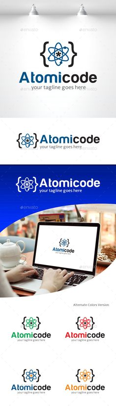 Atomic Code  - Logo Design Template Vector #logotype Download it here: http://graphicriver.net/item/atomic-code-logo/11309657?s_rank=1660?ref=nexion