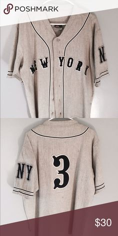 Vintage Baseball New York Yankees Jersey New York Yankees Vintage Baseball Jersey. Size Medium but runs a bit big . Message me for details. Shirts