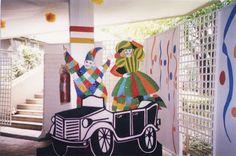 Recorte em compensado - Carnaval - Clube Pinheiros