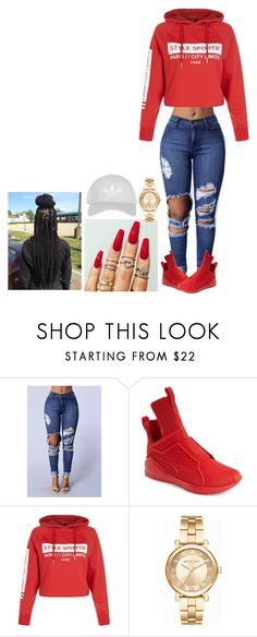 """""""Untitled #103"""" by brionce ❤ liked on Polyvore featuring Puma, New Look, Michael Kors and Topshop"""