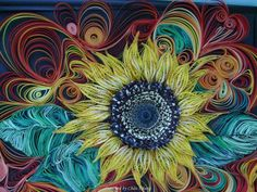 Unknown arrtist- Quilled sunflowers pictures (Searched by Châu Khang)