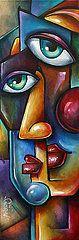 Cubism Art - Merge  by Michael Lang