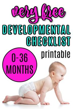 If you are a new mom and would like to keep track of your infant or toddler's developmental milestones then this printable checklist will help. FInd out what milestones to expect from birth to 3 years old. Developmental Milestones Checklist, Toddler Milestones, Gentle Parenting, Parenting Hacks, Baby Development, Development Milestones, Parental Control Apps, Self Help Skills, Toddler Teacher