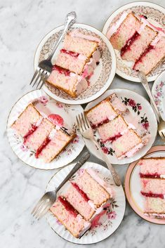Flamingo Pink Velvet Cake with Strawberry Rhubarb Compote Constellation Inspiration Strawberry Rhubarb Compote, Strawberry Cakes, Just Desserts, Delicious Desserts, Yummy Food, Pink Desserts, Sweet Recipes, Cake Recipes, Dessert Recipes