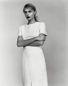 """offends: """" Cara Delevingne for DNA Models photographed by Alasdair McLellan """" Minimal Fashion, White Fashion, Look Fashion, Fashion Models, Fashion Beauty, Autumn Fashion, Fashion 2014, Fashion Women, Cara Delevingne"""