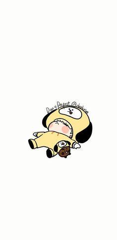 Yoongi & Shooky l FanArt ♡ Bts Yoongi, Bts Bangtan Boy, Bts Jimin, Bts Chibi, Fanart Kpop, K Wallpaper, Bts Drawings, Bts Fans, I Love Bts