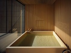 Japanese interior design - Timber bath by Japanese architecture firm official – Japanese interior design Japanese Modern, Japanese House, Japanese Sauna, Modern Japanese Architecture, Sustainable Architecture, Japanese Style, Japanese Interior Design, Japanese Design, Modern Interior