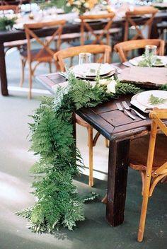 Fern wedding centerpiece idea / http://www.deerpearlflowers.com/greenery-fern-wedding-ideas/