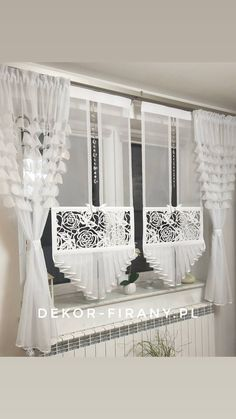 Luxury Curtains, Elegant Curtains, Rustic Curtains, Curtain Designs For Bedroom, Window Curtain Designs, Kitchen Window Curtains, Home Curtains, Diy Window Shades, Cortinas Shabby Chic