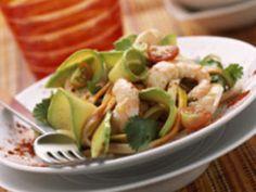 Salade d'avocats et pamplemousses aux crevettes, facile et pas cher