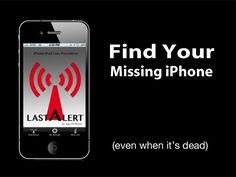 LAST ALERT - Find Your iPhone \ iPod (Even when it's dead) by App-Different, via Kickstarter.