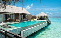 take a swim in your private pool at the Shangri-La Maldives
