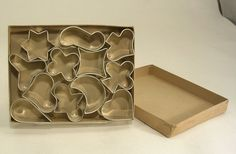 Canape Cutters or Small Metal Cookie Cutters Set of 12 Made In Germany