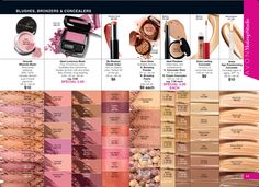 Avon campaign 22 brochure online special deals. Blushes, powders, concealers. #makeup #products www.youravon.com/djohnson7286