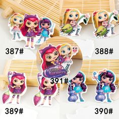 50pcs/lot Mixed Christmas Cartoon Flatback Resin for DIY Home Decoration Accessories Kawaii Little Charmers Planar Resins Craft
