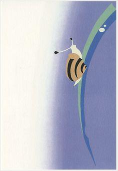 虫メガネ カタツムリ