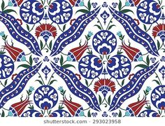 Find Traditional Turkish Ottoman Floral Pattern stock images in HD and millions of other royalty-free stock photos, illustrations and vectors in the Shutterstock collection. Motif Design, Pattern Design, Print Design, Turkish Pattern, Floral Pattern Vector, Turkish Tiles, Ceramic Figures, Textiles, Animal Fashion