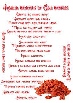 Health Benefits Of Goji Berries Healthy Food Options, Healthy Tips, Healthy Choices, Healthy Recipes, Healthy Foods, Benefits Of Organic Food, Health Benefits, Healthy Fruits And Vegetables, Food Facts