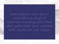 Our intermediate mesh expanded metal is extremely flexible because it is adaptable to a range of applications. Learn more about our flexible intermediate mesh at https://www.youtube.com/watch?v=H7JP1r3UPls